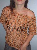 Меланжевая блузка