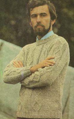 Мужской пуловер - Вязание спицами для