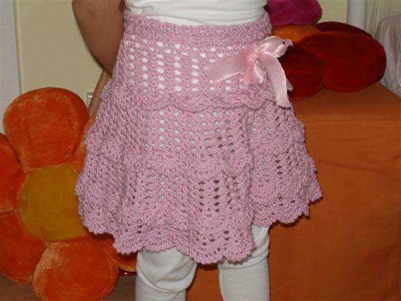 Юбки вязанные крючком, связать детский шарфик крючком схема и шапка.