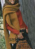 Рхема 6 - вязаные шарфы спицами схемы.