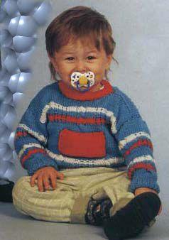 Вязаный джемпер - Вязание малышам