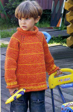 Вязание меланжевыми нитками для детей