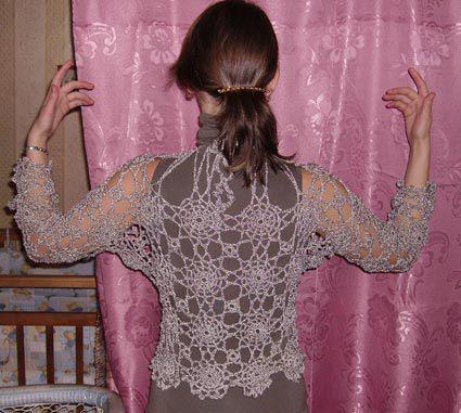 Описание: Вязание крючком/Кофточки, блузки, пуловеры. схемы для вязания крючком.