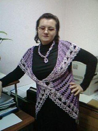 Риреневая накидка Автор вязаной крючком накидки Евтушенко Натали.