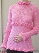 Розовая кофточка
