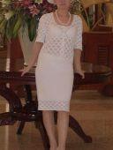 Блузка, юбка и шляпка