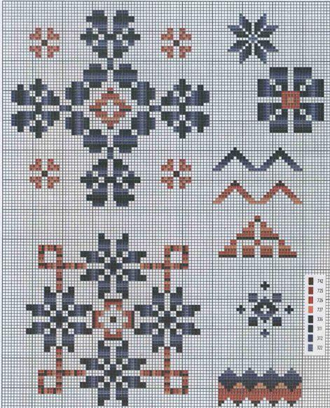Схема узор вышивка