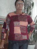 """Пуловер в стиле """"пэчворк"""""""