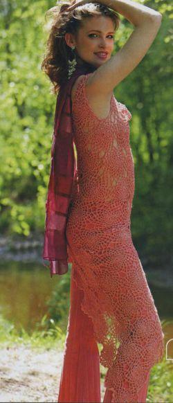 вязание сарафанов и туник крючком