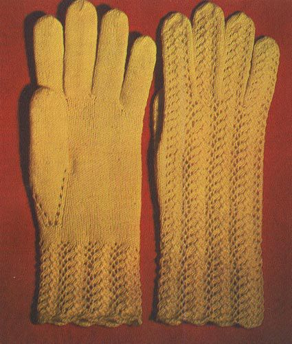 вязание перчатки ажурные