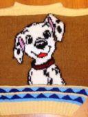 Пуловер с собачкой