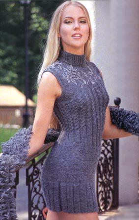 женская одежда вязание спицами платья
