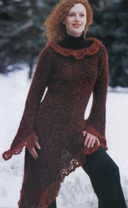 платье для девочки крючком и спицами