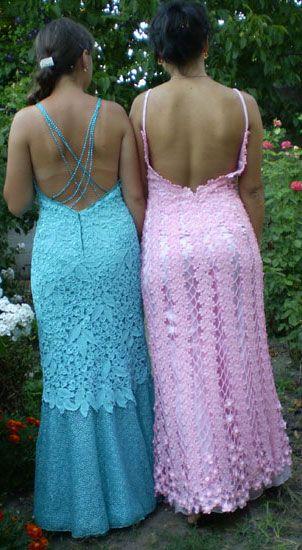 Описание: летние вязаные платья для девочек.