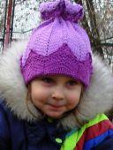 Светло-сиреневая шапочка