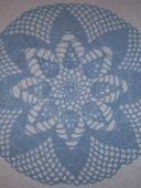 Голубая салфетка