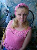 Розовый топ