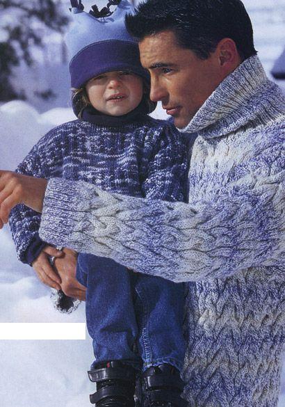 на главную :: вязание на спицах :: Мужские пуловеры и свитеры Свитер сдержанного объема для традиционно более