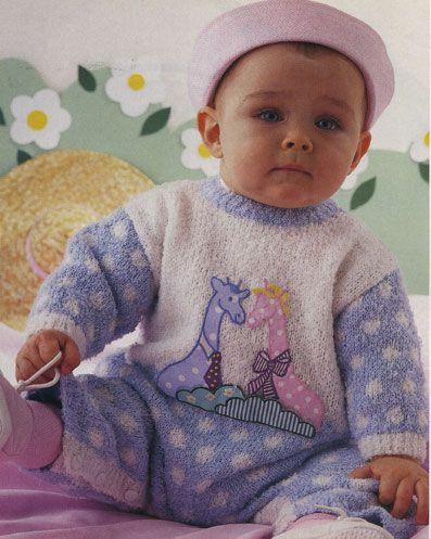Вязание комбинезонов для малышей