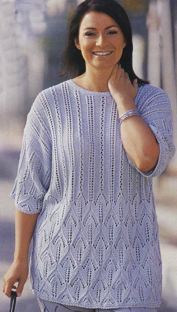 Пуловеры для полных женщин спицами