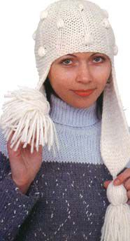 Москва рулит: схемы вязания зимних шапок крупная вязка.
