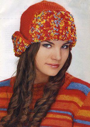 Шапка-ушанка. Вязание шапок. Узелок.ру