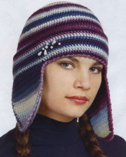 крючком. зимние женские вязаные шапки.