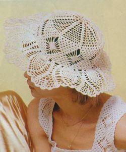 Женские ажурные летние шляпки, связанные крючком.