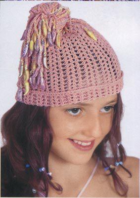 Летние шляпки связанные крючком для девочки