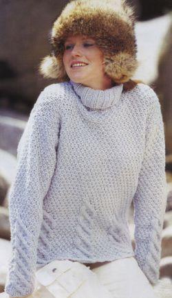 Фото из рубрики Схемы вязания пуловера начиная от рукава и Схема вязания простой шапки для девушки