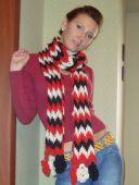 Разноцветный шарфик