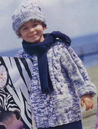 Вязаные детские шапочки, шарфы