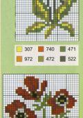 Схема вышивки лужайки