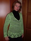 Зеленая кофта