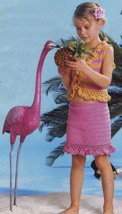 Жилет и юбка для девочки