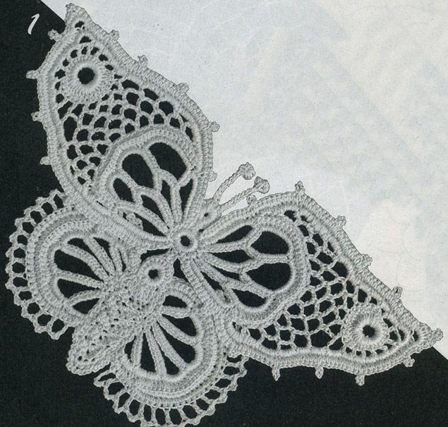 Вязания фантазийных бабочек