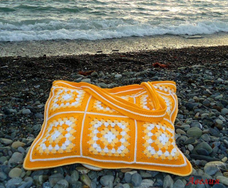 Вязание сумки для пляжа 53