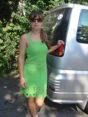 Зеленый сарафан