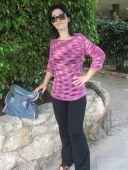 Меланжевая блуза