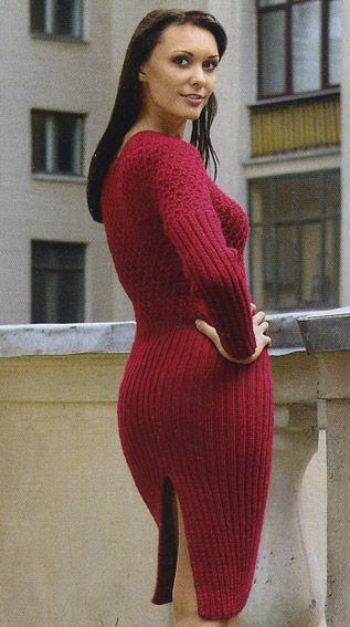 Спицами платье на резинке