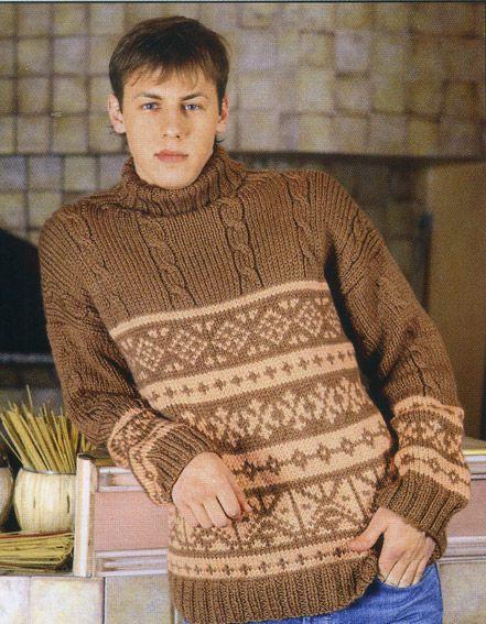 Но следует учитывать, что особенно красиво смотрится свитер с норвежским узором, выполнен в холодных тонах