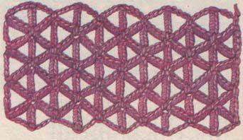 схема ажурного треугольника крючком.