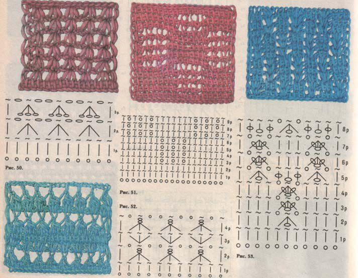 схема рисунка вязания косы - Сумки.