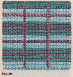 1-й прием.  Набирать петли, вводя крючок под вертикальную стенку каждой петли по всей ширине.