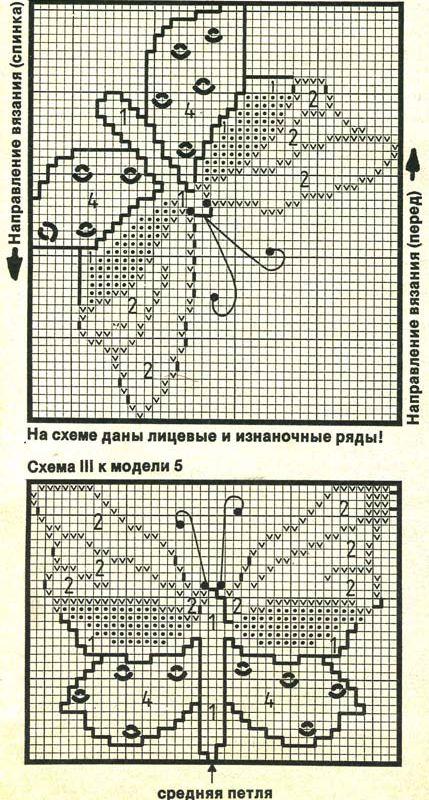 Вязание бабочек спицами схемы и описание 83