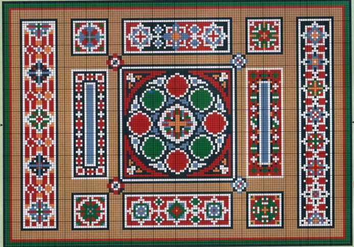 Арабские узоры вышивка крестом 10