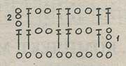 Плотность вязания: 40 п. (10 клеток) х 9 рядов = 10 х 10 см. Переплетение: узор по схеме, ст. с накидом, ст...