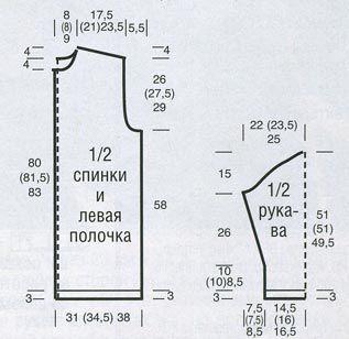 Длинные вязаное пальто в технике пэчворк - От ржавчины до ярко-розового.