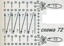 Таким образом соедините все 8... Схемы вязания крючком берета и палантина. По материалам Журнала мод 527