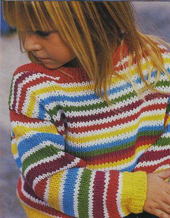 Многоцветное вязание спицами для детей 57